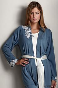 Luisa Moretti Damska bambusowa piżama CARINA ze szlafrokiem LM_2011