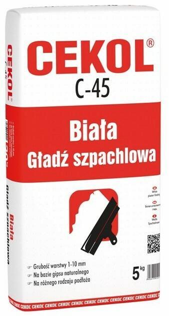 Cekol Biała masa szpachlowa C-45 5 kg