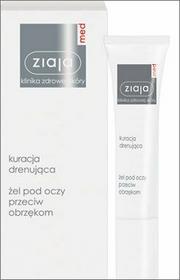 Ziaja Med Kuracja skóry wokół oczu (kuracja drenująca) - Żel pod oczy przeciw obrzękom 15ml