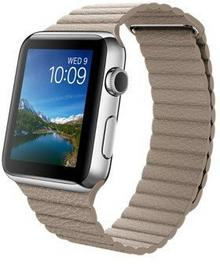 Apple Watch 42 mm Stal / Beżowy