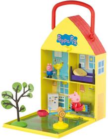Świnka Peppa - Domek Walizeczka z ogrodem i figurką 06156