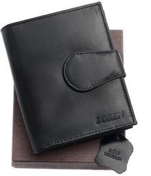 Loren portfel skóra damski 1101 BA czarny Średniej wielkości portfel damski m