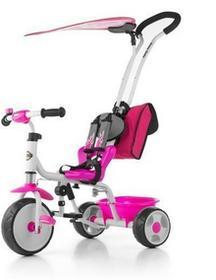 Milly Mally Rowerek trójkołowy Boby Deluxe z podnóżkiem różowy