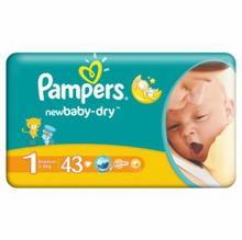 Pampers ACTIVE BABY-Dry NEWBORN 43 szt.
