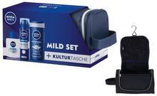 Nivea Men Original Care żel do kšpieli 250ml + Original pianka do golenia 200ml + Original balsam po goleniu 100ml + kosmetyczka