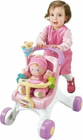 Fisher Price Wózek dla lalki pchacz z pozytywką 9523 FP9523
