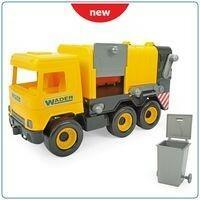 Wader Middle Truck Śmieciarka żółta w kartonie