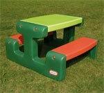 Little Tikes Stół piknikowy zielony 479A