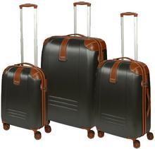 Dielle Komplet walizek na 4 kółkach 155 SET/155-55/60/70 Antracite RyanAir 4 kółka - obrotowe 360°