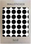 Ferm Living Naklejki ścienne Mini Dots czarne 54 szt. 2083-01