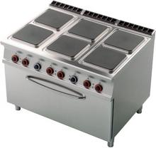 RM Gastro Kuchnia elektryczna z piekarnikiem 3x GN 1/1 CFQ6 - 912 ET