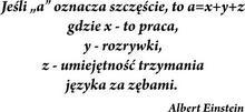 Szabloneria Naklejka - Sentencja 1 - Albert Einstein
