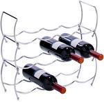 Zeller Metalowy stojak na wino - 3 sztuki w komplecie 27356 3563 11C3