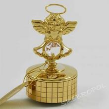 NA Złota pozytywka aniołek z kryszałkami swarovskiego 122-0245 (122-0245H) 124.00