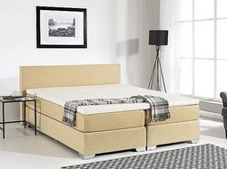 Beliani łóżko Kontynentalne 160x200 Cm Lózko Tapicerowane
