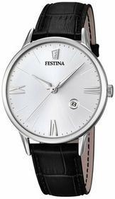 Festina męski zegarek na rękę analogowy kwarcowy skóra f16824/1