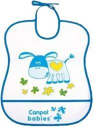 Canpol babies Śliniaczek plastikowy miękki - niebieski 3002919
