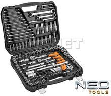 """NEO-TOOLS Zestaw kluczy nasadowych 1/2"""""""", 3/8"""""""", 1/4"""""""" z grzechotkami - 156 sztuk - NEO TOOLS (08-668)"""