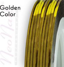 Neonail Tasiemka samoprzylepna - złota