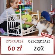 Grupa Lak System | Łóżka Metalowe Zosia - Łóżeczko dla lalek maskotek pupili