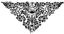 Szabloneria Naklejka do dekoracji wnętrz- misterna kwiatowa girlanda - flora 5