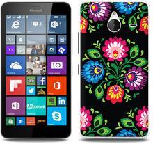 Etuo.pl Fantastic Case - Microsoft Lumia 640 XL - etui na telefon Fantastic Case - czarna łowicka wycinanka ETMS183FNTCFC132000