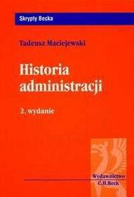 Maciejewski Tadeusz   Historia administracji