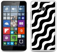 Etuo.pl Fantastic Case - Microsoft Lumia 640 - etui na telefon Fantastic Case - biało-czarna fala ETMS174FNTCFC026000