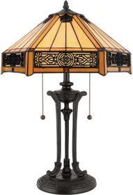 Elstead Lighting Lampa stołowa witrażowa TIFFANY INDUS QZ/INDUS/TL -