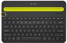 Logitech Bluetooth Multi-Device Keyboard K480 Black-Yellow