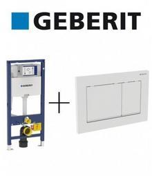 Geberit DUOFIX OMEGA Stelaż podtynkowy do WC H 112 + przycisk Omega30 BIAŁY/CHROM/BIAŁY 111.060.00.1 + 115.080.KJ WSPOR+50PL 111060001 + 115080KJ1