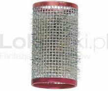 GORGOL Wałki metalowe ze szczotką czerwone 36 mm (4 szt.)