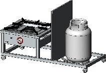 Egaz Taboret gazowy 1-palnikowy, 1300x600x420 mm, 9 kW TG-110.V