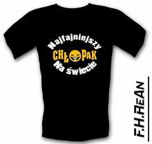 T-shirt t-shirt z nadrukieM: Najfajniejszy Chłopak na Świecie