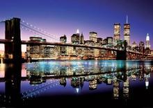 New York, Brooklyn Bridge (Colour) - plakat