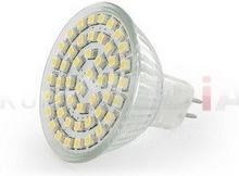 Whitenergy Żarówka LED Reflektor 48xSMD 3528 2,7W GU5.3 12V ciepły biały 04878