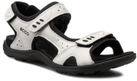 Ecco sandały - Kana 83410302152 Shadow White skóra kremowyna - nubuk