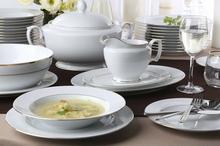 Chodzież Zestaw obiadowy dla 12 osób porcelana MariaPaula Złota Linia   Darmowa