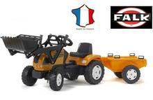 Falk Traktor Renault Ares z przyczepą i ładowaczem 993M