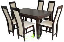 FRONTI Komplet Stół 160 + 6 krzesła