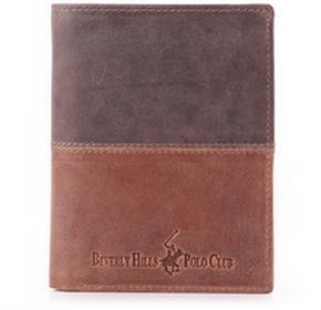 Beverly Hills Polo Club portfel męski skóra Oklahoma - brązowy BH-263 moro/Co