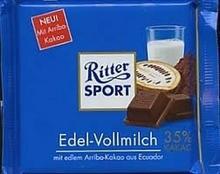 Ritter Sport Edel Vollmilch 35% Kakao 100g