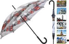 Parasol manualny CITY, Parasolka - 105 cm - rzym