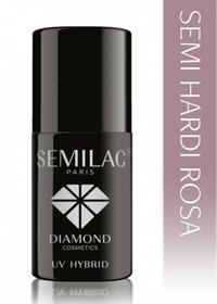 Semilac Diamond Cosmetics Hard Rosa Hybrydowy żel budujący na paznokcie 7 ml