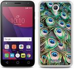 Alcatel Foto Case - Pixi 4 (5) 3G (5010) - etui na telefon Foto Case - pawie pióra (ETAL404FOTOFT018000)