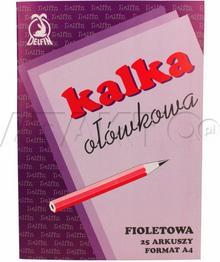 Delfin KAKADO/ Kalka ołówkowa A4 fioletowa (25) KD5002