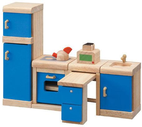 Plan Toys Drewniane mebelki dla lalek Kuchnia Neo - mebelki do domku dla lalek,