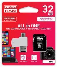 Goodram microSDHC 32GB CL10 + ADAPTER + CZYTNIK