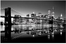 Brooklyn Bridge (B&W) - reprodukcja