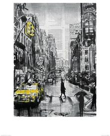 Pyramid Posters New York Brooklyn Taxi - reprodukcja